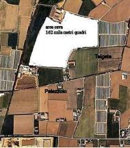 giancarlo chiari : foto aerea cava ate g 39 telgate con confinii di palazzolo e palosco